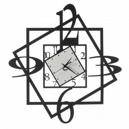 Moderne ijzeren wandklok geometrisch ontwerp gemaakt in Italië - Procida