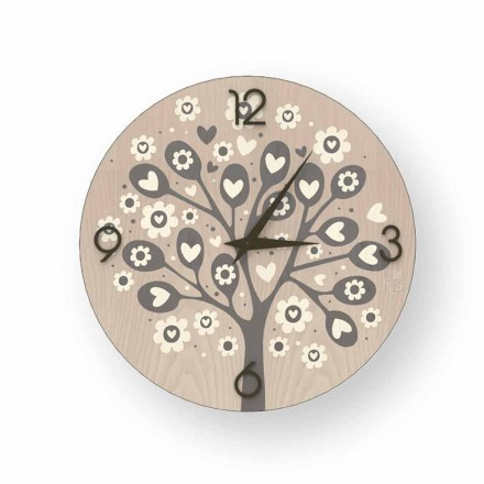 Tree Of Heart moderne design wandklok gemaakt van hout
