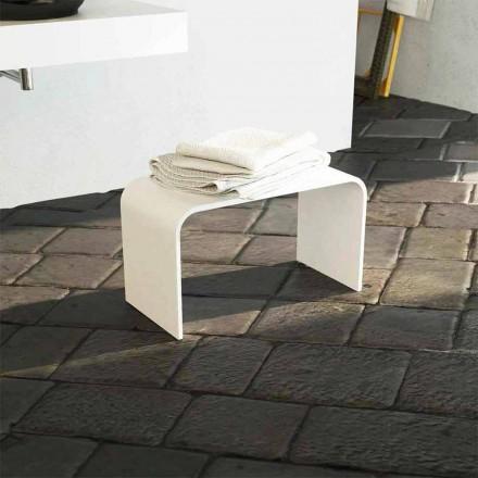 Lange badbank met modern design, 100% geproduceerd in Recanati, Italië