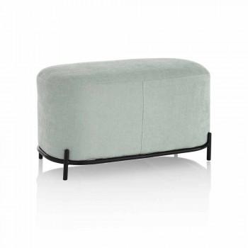 Bank voor woonkamer of slaapkamer in mintgroene designstof - Ambrogia