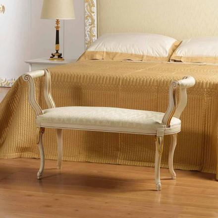 Bench Mat klassiek design ivoor met gouden versieringen Tyler