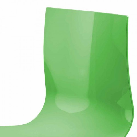 2-zits kantoorbank met salontafel in staal en gekleurd technopolymeer - Verenza