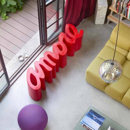 Slide Love outdoor bank voor buiten / binnen gekleurd design