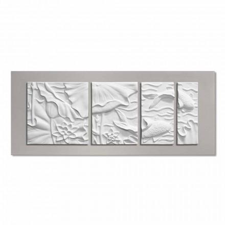 Decoratief Wandpaneel Modern Design Wit en Grijs Keramiek - Giappoko
