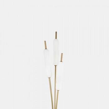 3-lichts vloerlamp in messing en glas Modern elegant design - Typha van Il Fanale