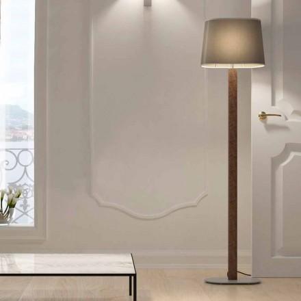 Moderne design staande lamp in metaal met stoffen lampenkap Made in Italy - Jump