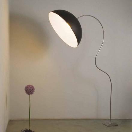 Moderne H210cm staande lamp In-es.artdesign Half-moon gekleurde nebulite