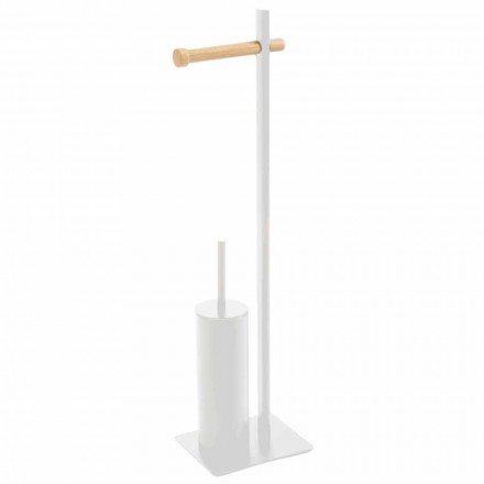 Toiletborstelhouder en designpapier van Zelbio metaal en hout