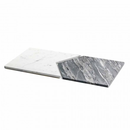 Serveerborden in Carrara en Bardiglio marmer gemaakt in Italië, 2 stuks - erwt