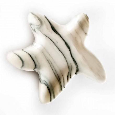 Moderne marmeren schotel in de vorm van een zeester Made in Italy - Ticcio