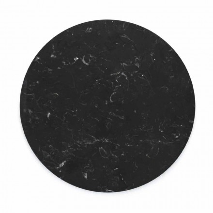 Ronde kaasplaat in wit of zwart marmer gemaakt in Italië - Kirby