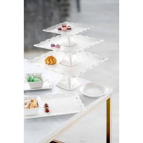 12 stuks porseleinen elegante handversierde gunstplaat - Rafiki
