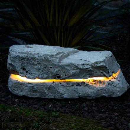 Stone verlichten met geluid diffuser Fior di Pesco Carnico Sound