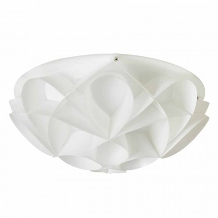 2 plafondlampen kleur parel wit modern design, diam.43cm, Lena