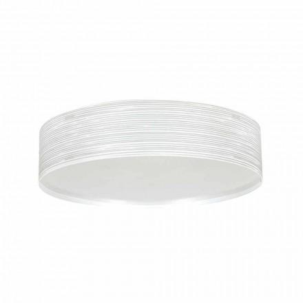 2 plafondlampen in modern design polypropyleen Debby, diameter 45cm
