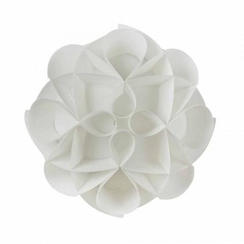 3 plafondverlichting gemaakt in Italië witte parel, een diameter van 51 cm, Lena