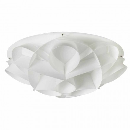 Plafondverlichting 4 witte modern design parel diam. 70 cm, Lena