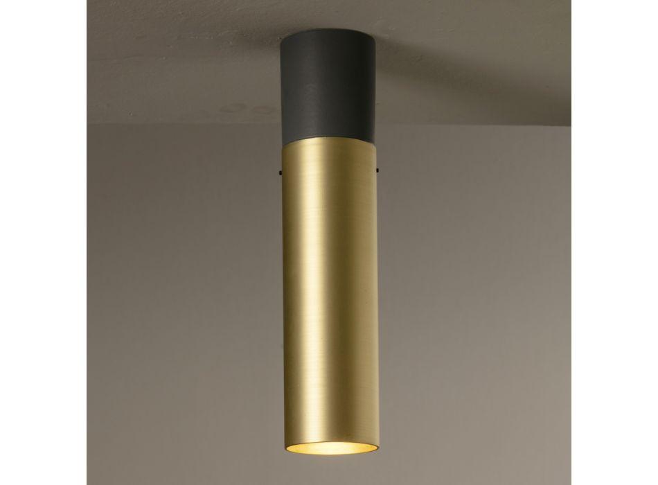Ambachtelijke plafondlamp van keramiek en messing Made in Italy - Toscot Match