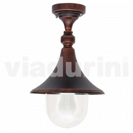 Tuinplafondlamp in gegoten aluminium, gemaakt in Italië, Anusca