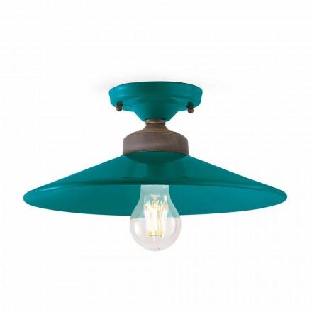 Plafondlamp Design plafondlamp keramiek en ottone Cecilia
