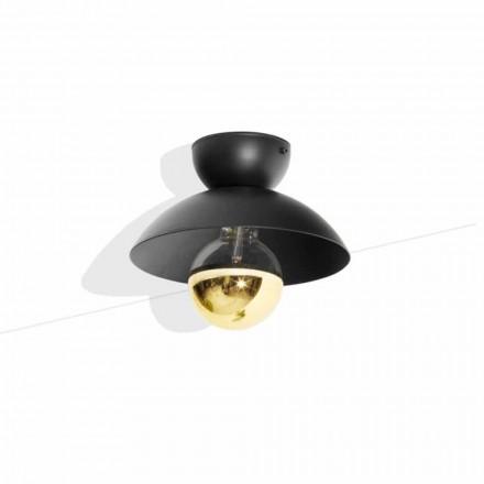 Metalen design plafondlamp met goudkleurige afwerking Made in Italy - Valta