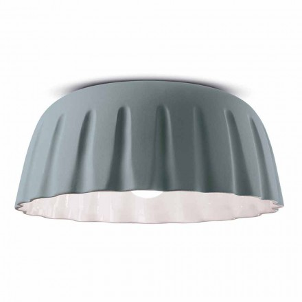 Vintage design keramische plafondlamp gemaakt in Italië - Ferroluce Madame Grès