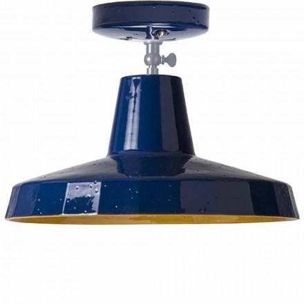 Plafondlamp in Toscaanse maiolica en koper, 30cm, Rossi - Toscot