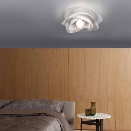 Hedendaagse plafondlamp met schaduw van witte corolla diam. 40 cm, Antalya