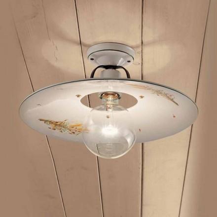 Ronde plafondlamp gedecoreerde keramische plafond Ferroluce