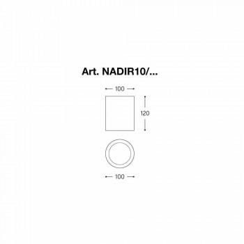 Round maximum voor extern gips of cement Nadir Aldo Bernardi