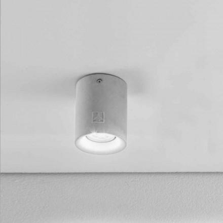 Ronde plafondlamp buitenkant gips / cement Nadir 10 Aldo Bernardi