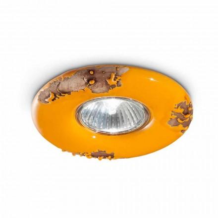 Rond plafond vintage handgemaakte keramiek Paula Ferroluce