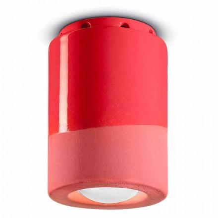 Vintage plafondlamp in keramiek gemaakt in Italië - Ferroluce Pi