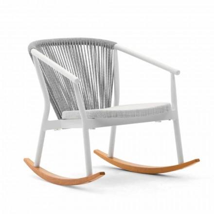 Schommelstoel voor buiten in massief hout en stof - Smart van Varaschin