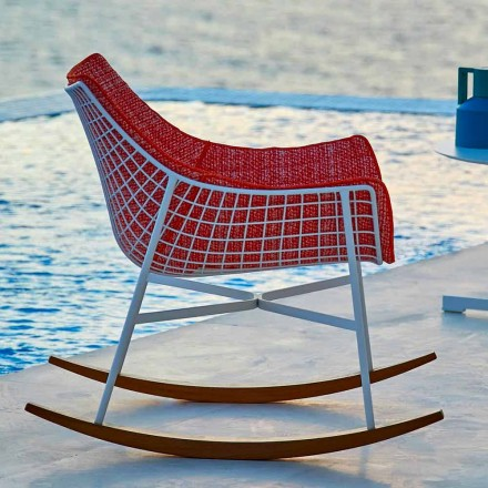 Varaschin zomerset tuinschommelstoel in staal en hout