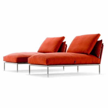 Chaise Longue fauteuil van modern design voor tuin gemaakt in Italië - Ontario1