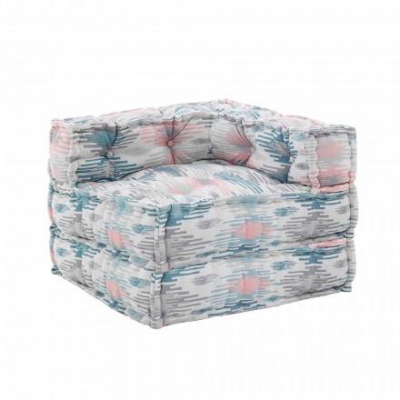 Chaise Longue fauteuil binnen of buiten in waterafstotende stof - Shamo