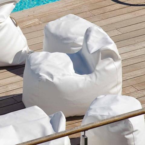 Armchair Ontwerp Wolk in het wit kunstleer nautische Trona
