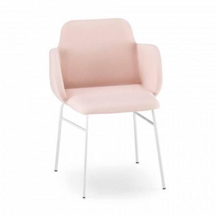 Hoge kwaliteit gekleurde fauteuil in stof en metaal Made in Italy - Molde