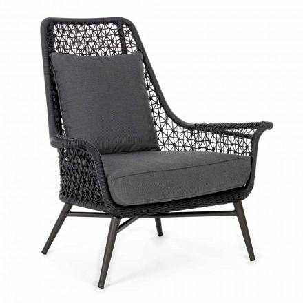 Modern design fauteuil voor buiten in aluminium en homemotion stof - Nigerio