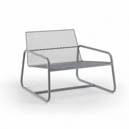 Metalen fauteuil voor buiten met luxe kussen Made in Italy - Karol