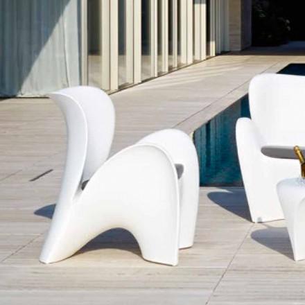 Design gekleurde kunststof buiten- of binnenfauteuil - Lily van Myyour