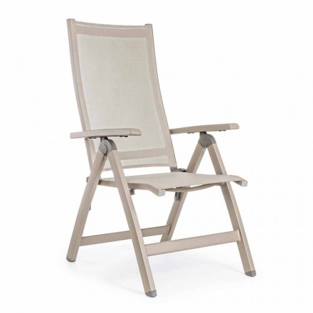 Liggende buitenfauteuil met aluminium structuur, Homemotion - Ursula