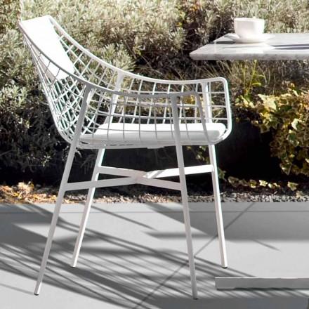 Varaschin Outdoor zomerfauteuil Design set in wit staal