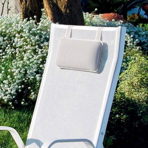 Aluminium tuinfauteuil met voetsteun Made in Italy - Camillo