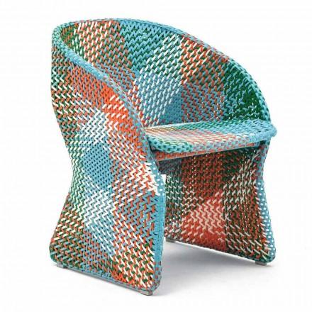 Tuinfauteuil in gekleurde gevlochten synthetische vezels - Maat van Varaschin
