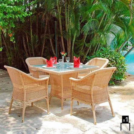 Polyethyleen Garden fauteuil met de hand geweven Tsjaad