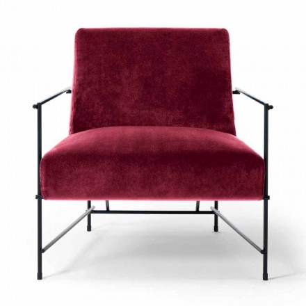Stoffen woonkamer fauteuil met metalen structuur Made in Italy - Manilla