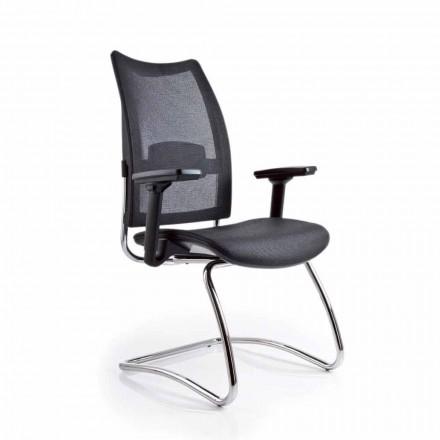 Kantoor fauteuil met armleuningen en terug in Luxy Overtime