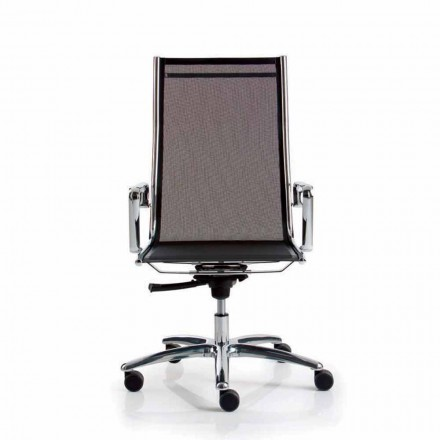 Chair executive office netwerk, hoge rug, licht Luxy